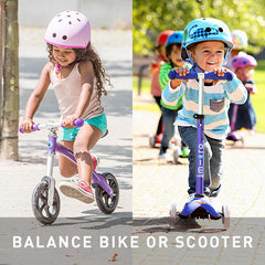 Preschoolers on their Balance Bikes