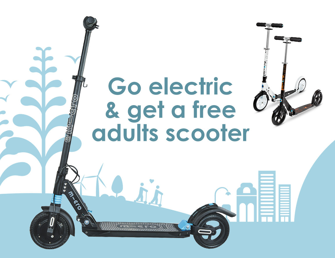 go electric and get a free adults scooter