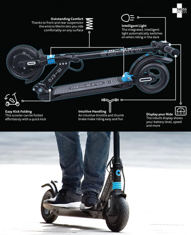 electric scooter emicro merlin