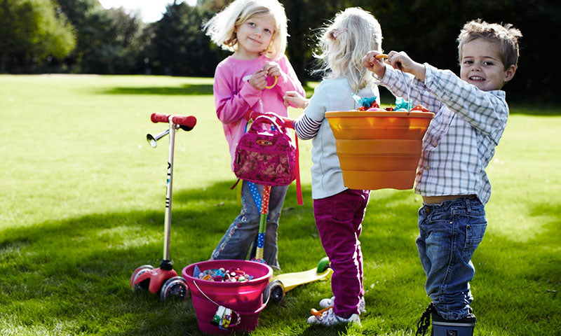 Easter Treasure Hunt for kids with Micro Scooters