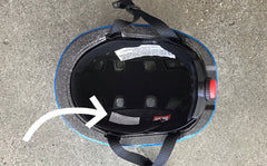 Serial number position in Micro Scooter Helmets