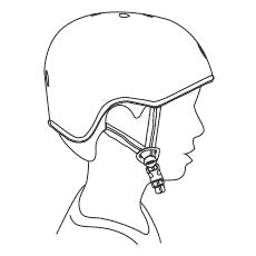 correct position of straps over ears