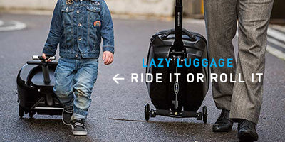 Kids and Parents loving the Lazy Luggage