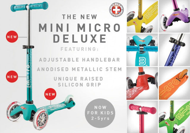 The New Micro Scooter Deluxe features