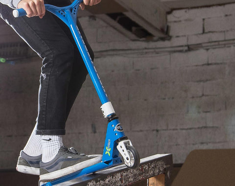 Win the new mX trixx Stunt Scooter Bright Blue for Kids