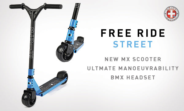 The new mX Free Ride Street Micro scooter