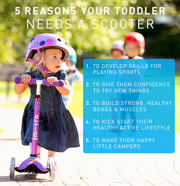 5 reasons your toddler needs a scooter