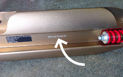 placement of the serial number of Suspension under deck