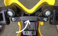 Mini Micro serial number under wheels