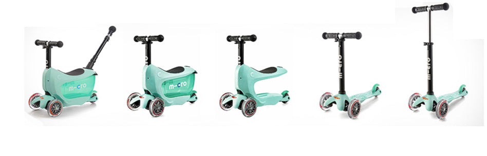 Stages of the Mini2go Deluxe