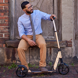 Trendy Dad suspension scooter