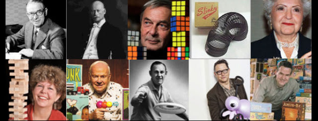 Pictures of the top ten toy inventors of all time