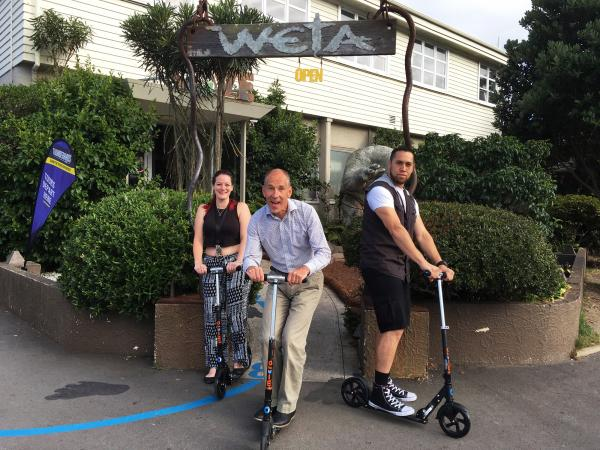 Weta Workshop team on their Micro Scooter fleet