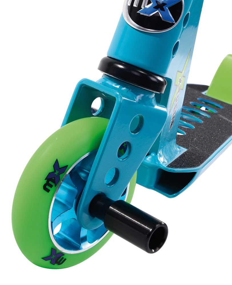micro mx trixx rainbow blue kids scooter front wheel