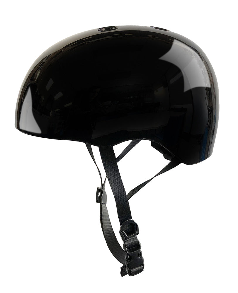 micro scooter BLACK HELMET GLOSSY FRONT