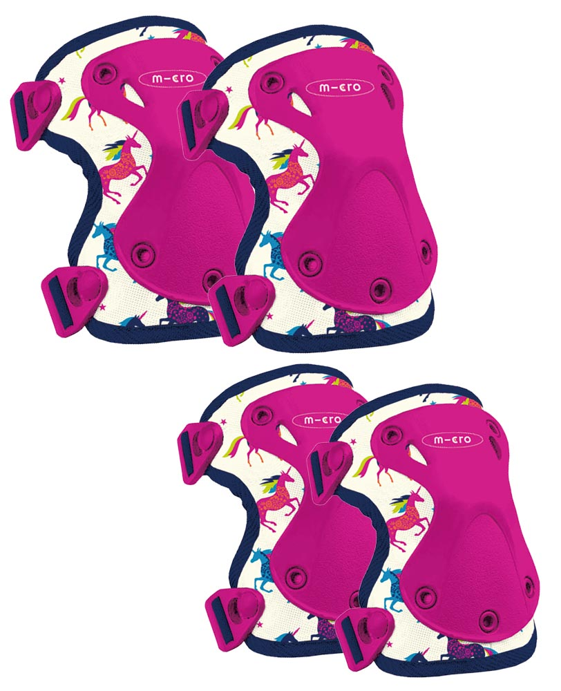 micro scooter cool unicorn knee elbow pads