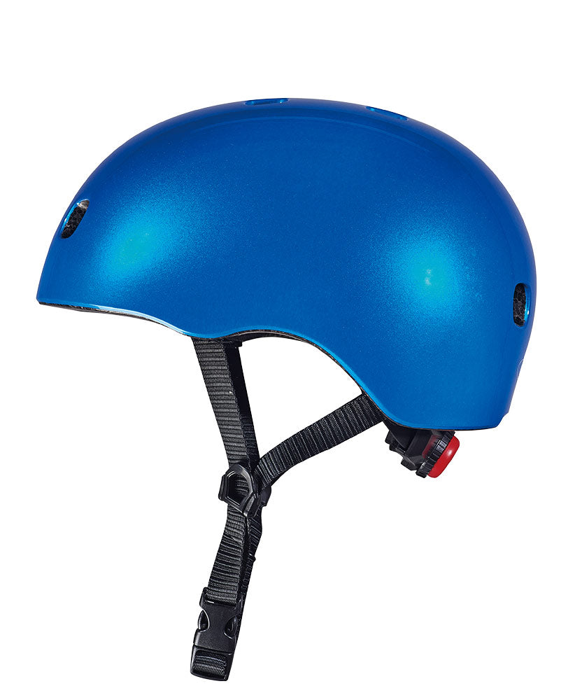 micro scooter dark blue side view helmet