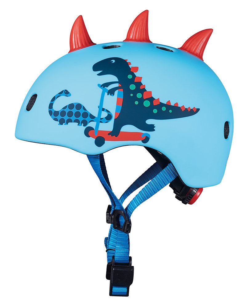 micro scooter scootersaurus helmet side view