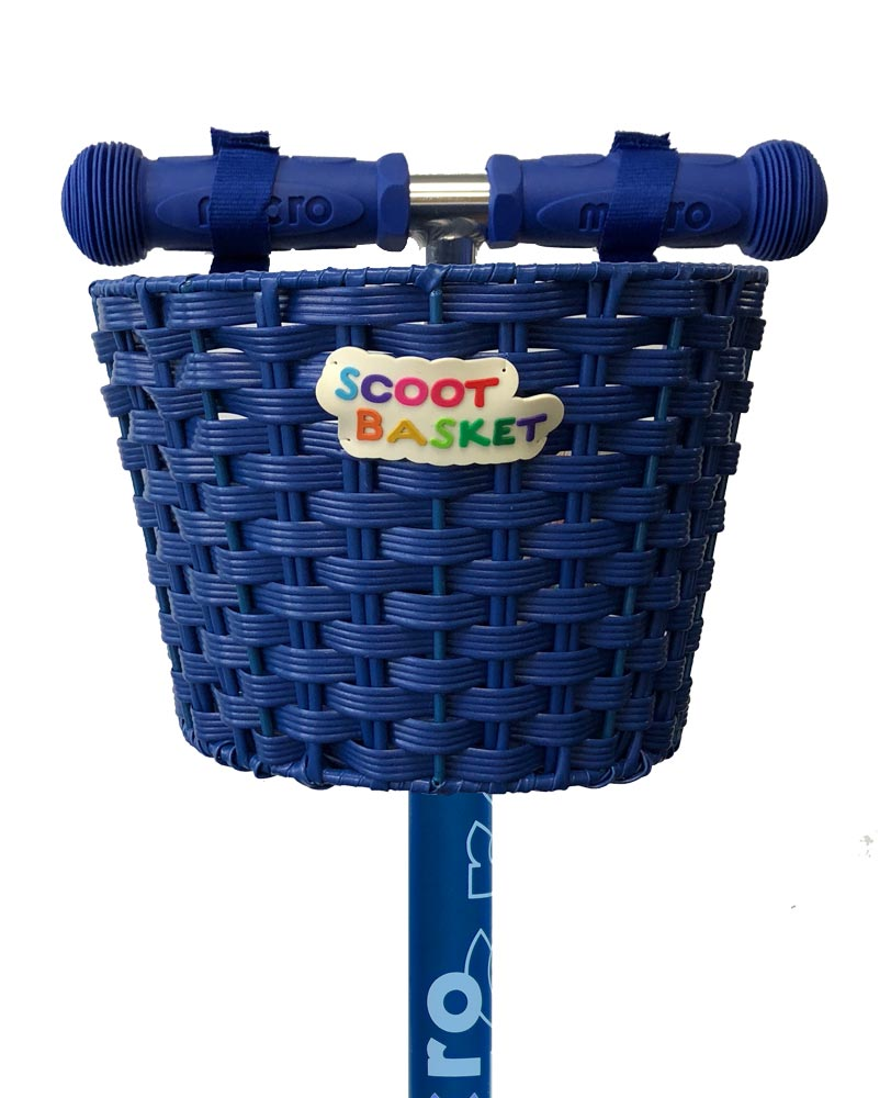 Blue Scoot Basket perfect for Micro Scooters