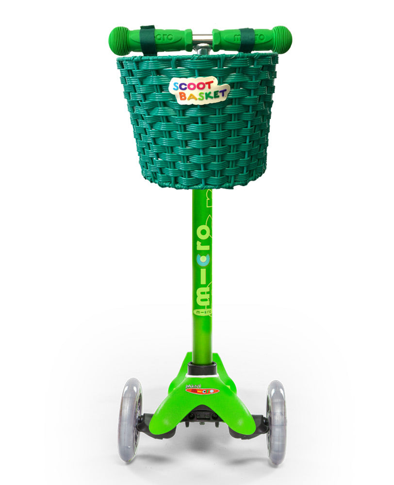 Green Scoot Basket perfect for Mini Micro Deluxe