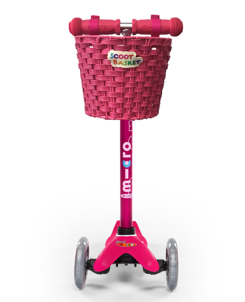 Pink Scoot Basket perfect for Mini Micro Deluxe