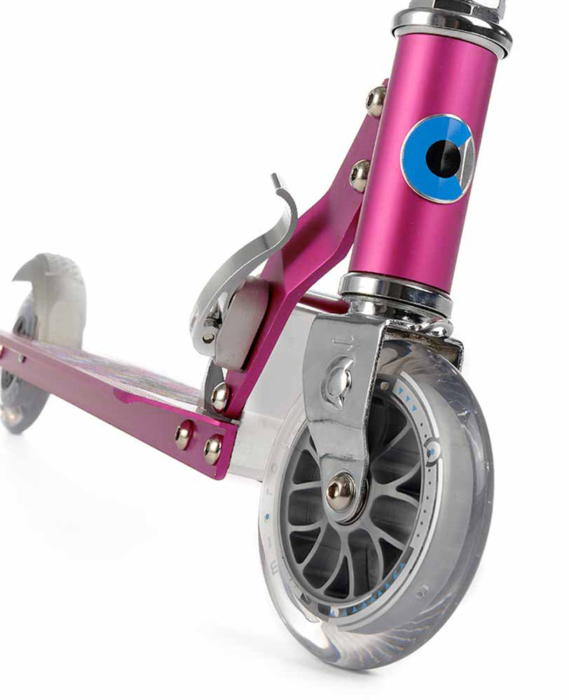 micro sprite scooter raspberry floral dot wheel new