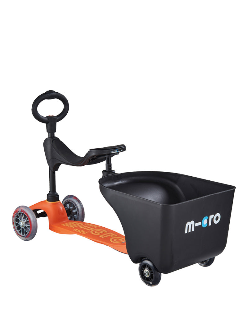 micro trailer attached to micro seat perfect for preschoolers