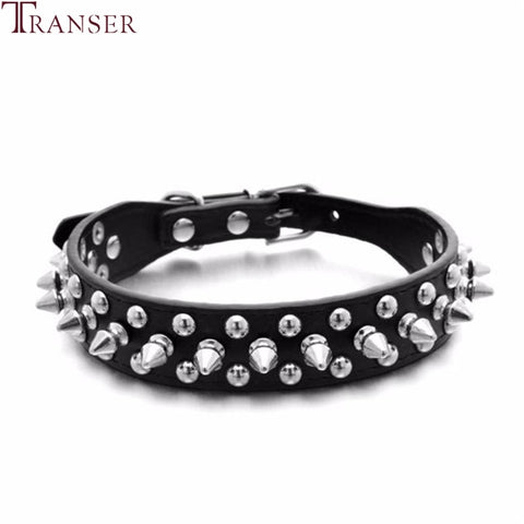 PU Leather Punk Rivet Spiked Dog Collar