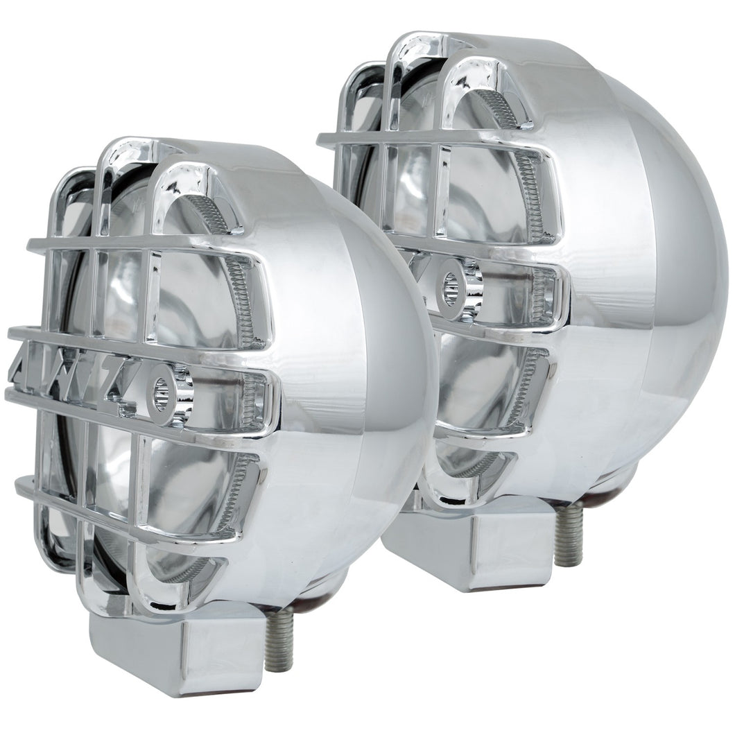 Anzo 861095 6 Inch HID OFF ROAD LIGHTS CHROME w/ LENS PROTECTOR (PAIR)