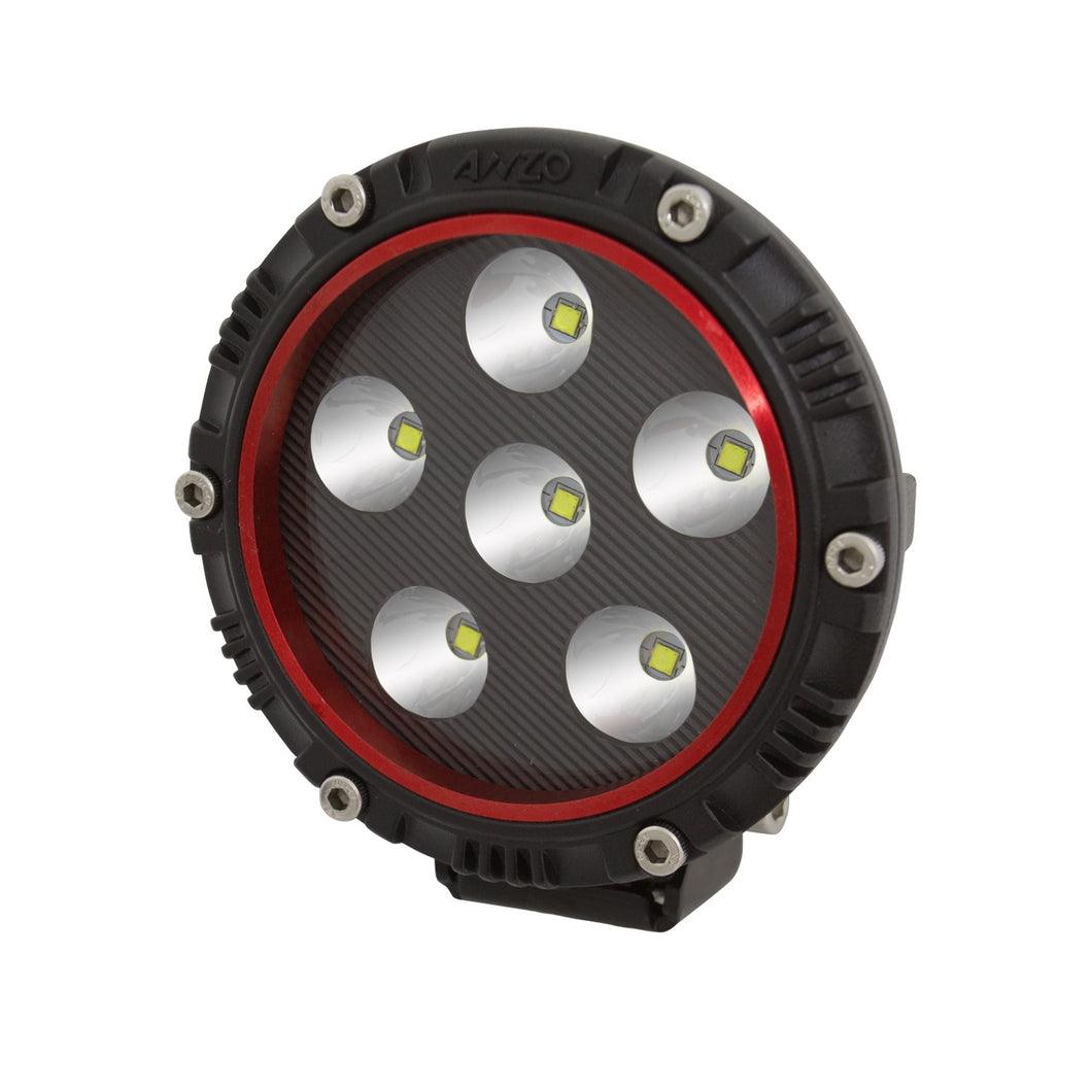 Anzo 861180 4 Inch Round LED Light (RED BEZEL)