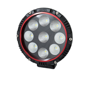 Anzo 861181 6 Inch ROUND LIGHT (RED BEZEL)