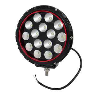 Anzo 861182 8 Inch Round LED Light (RED BEZEL)