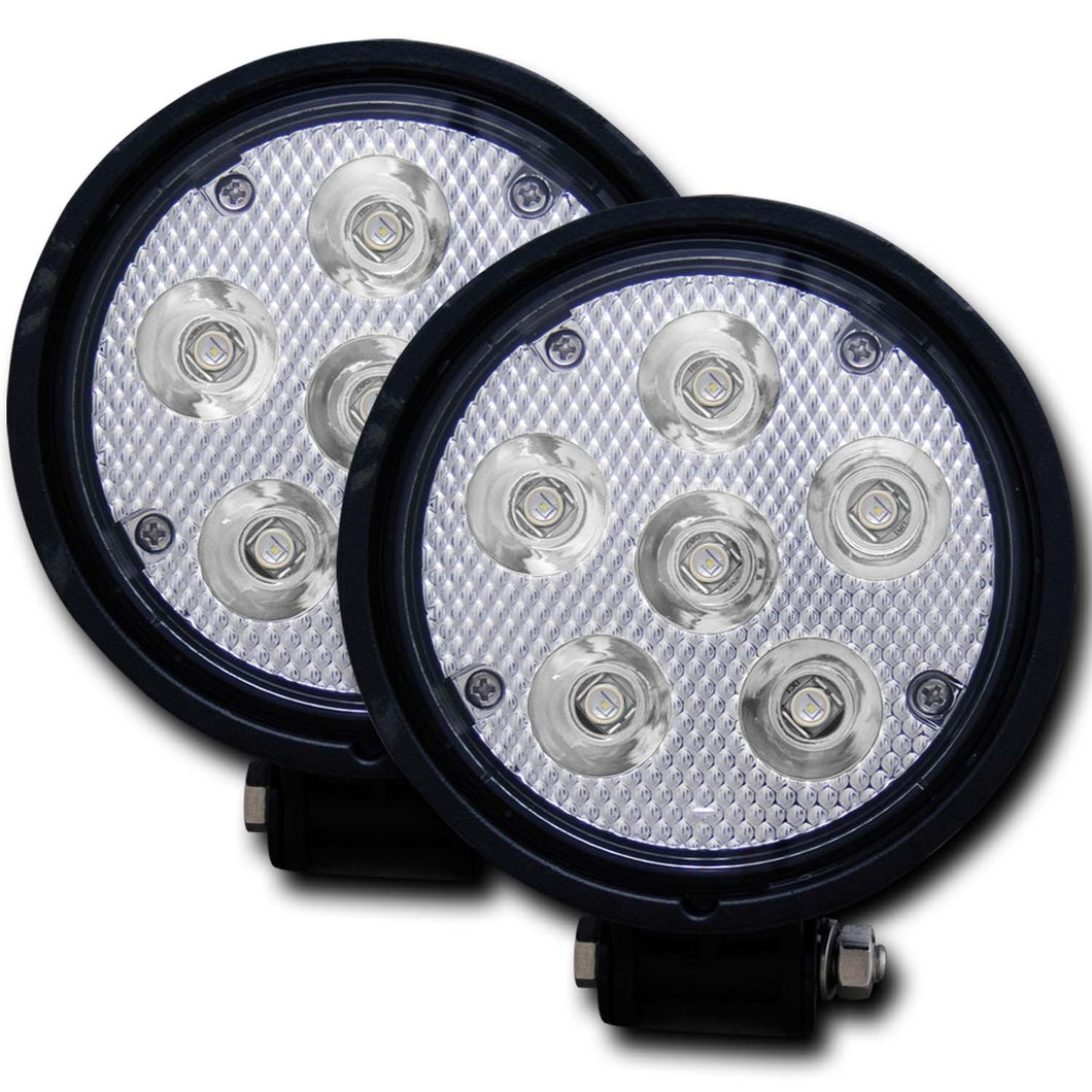 Anzo 881002 Rugged Vision 4.5 Inch Round High Power L.E.D Fog Light (Pair)