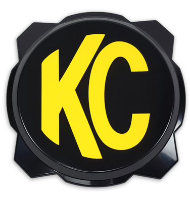 KC Hilites KC Gravity Pro6 Black Light Cover with Yellow KC Logo - #5111