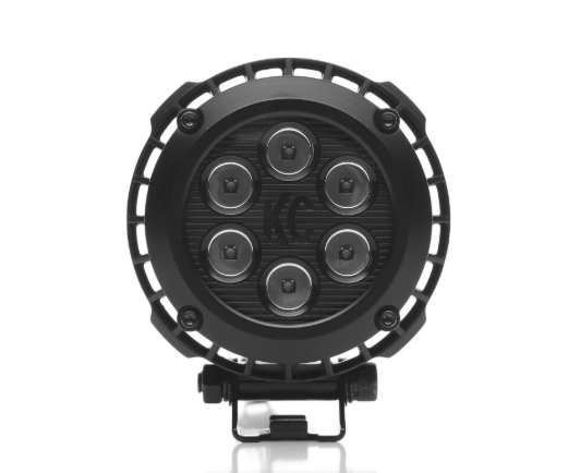 KC Hilites 4 Inch Round LZR LED Pair Pack System - Black - KC #300