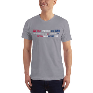 Lifted Truck Nation Front Print White Unisex T-Shirt Made in the USA