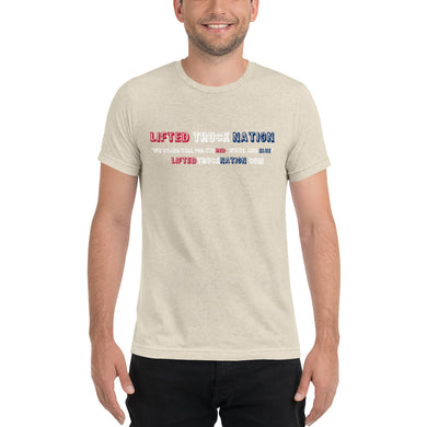 Lifted Truck Nation Front Print Unisex Tri-Blend Short Sleeve T-Shirt