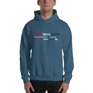 Lifted Truck Nation Front-Back Print White Hooded Sweatshirt