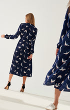 Load image into Gallery viewer, maxi wrap blue dress