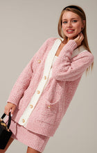 Load image into Gallery viewer, Knitted pink suit set