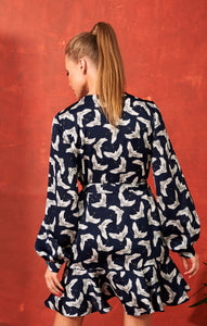 mini dress | bird print