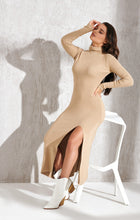 Load image into Gallery viewer, Knitted nude trendy dress