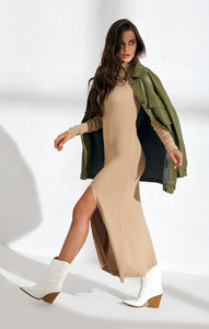 Knitted nude trendy dress