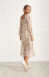 Off the shoulder Dandelion midi-dress