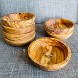 Custom Engraved Olive Wood Ring Bowl / Jewelry Dish (Round)