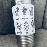 20 oz. Tumbler w/ White Silicone Sleeve (Single-Side Custom Design Included)