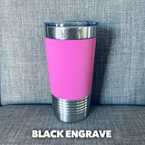 20 oz. Tumbler w/ Silicone Sleeve (Single-Side Custom Design Included)