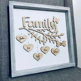 "Family Tree Farmhouse Sign — 14"" x 14"""