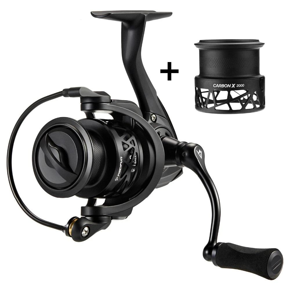 Carbon X Spinning Reel with Spare Spool 5.2:1/6.2:1 Gear Ratio Max Drag Fishing Reel