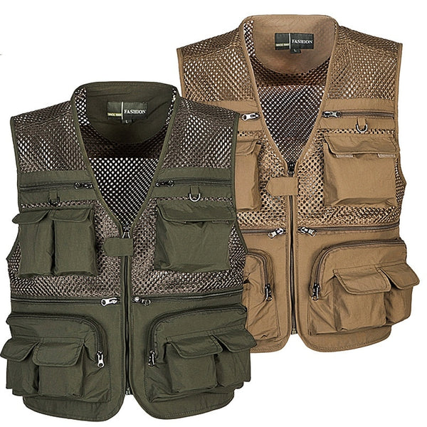 Fishing Vest Nylon Mesh, Breathable. Quick Dry, Waterproof  Men & Women